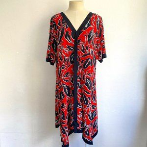 Virtuelle Size 20 Dress Red Black V-Neck Plus Size